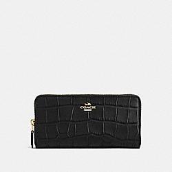 COACH F54757 Accordion Zip Wallet IMITATION GOLD/BLACK