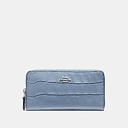 COACH F54757 Accordion Zip Wallet SILVER/DUSK 2