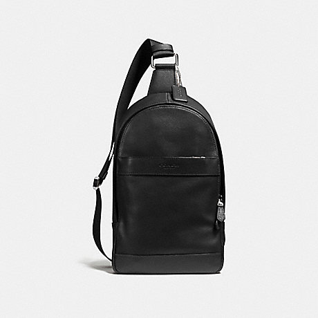 Coach F54770 Charles Pack In Smooth Leather Black