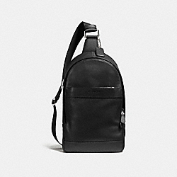 CHARLES PACK IN SMOOTH LEATHER - f54770 - BLACK