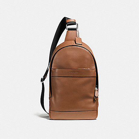 6c33994f21c8 COACH F54770 - CHARLES PACK IN SMOOTH LEATHER - DARK SADDLE
