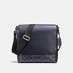 COACH F54771 Charles Small Messenger In Signature MIDNIGHT