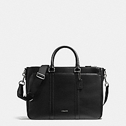 COACH PERRY METROPOLITAN TOTE IN CROSSGRAIN LEATHER - BLACK - F54775