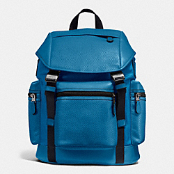 TERRAIN TREK PACK IN PERFORATED MIXED MATERIAL - f54777 - DENIM