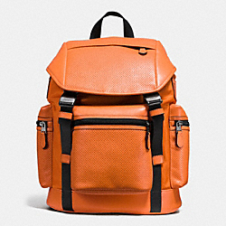 COACH F54777 Terrain Trek Pack In Perforated Mixed Material ORANGE