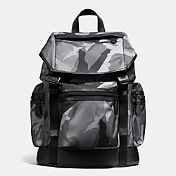 COACH F54783 Terrain Trek Pack In Printed Nylon GREY CAMO