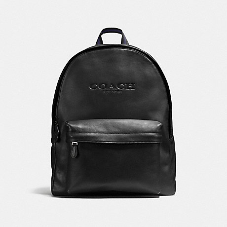 COACH f54786 CHARLES BACKPACK IN SPORT CALF LEATHER BLACK