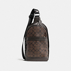 COACH F54787 Charles Pack In Signature MAHOGANY/BROWN