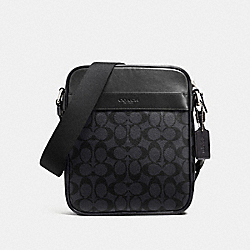 COACH F54788 Charles Flight Bag CHARCOAL/BLACK