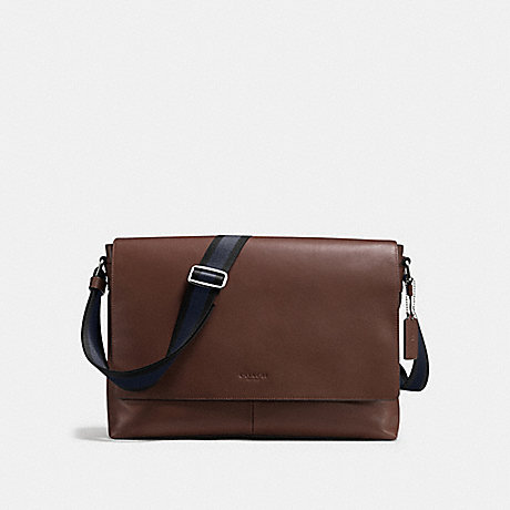 COACH F54792 CHARLES MESSENGER IN SMOOTH LEATHER MAHOGANY
