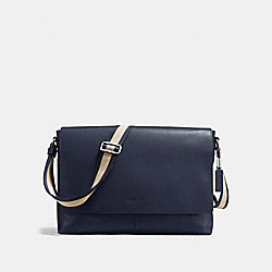 CHARLES MESSENGER IN SMOOTH LEATHER - f54792 - MIDNIGHT