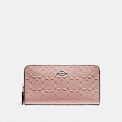 COACH F54805 Accordion Zip Wallet SILVER/BLUSH 2