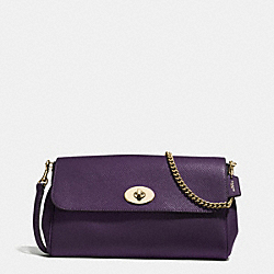 RUBY CROSSBODY IN CROSSGRAIN LEATHER - f54849 - IMITATION GOLD/AUBERGINE