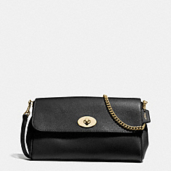 COACH F54849 Ruby Crossbody In Crossgrain Leather IMITATION GOLD/BLACK