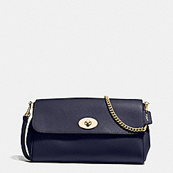 RUBY CROSSBODY IN CROSSGRAIN LEATHER - f54849 - IMITATION GOLD/MIDNIGHT