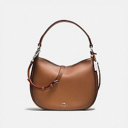 COACH F54868 Mae Crossbody SILVER/SADDLE