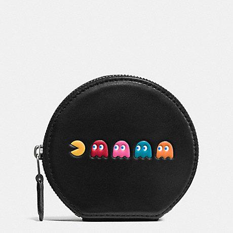 coach round coin case
