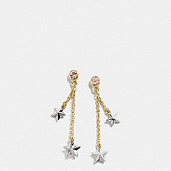 COACH F54878 - FOUND OBJECTS DANGLING STAR EARRINGS SILVER/GOLD