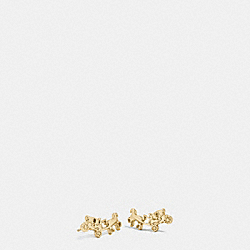 COACH F54895 - COACH CARRIAGE EARRINGS GOLD