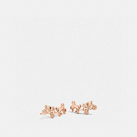 COACH COACH CARRIAGE EARRINGS - ROSEGOLD - f54895