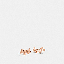 COACH F54895 - COACH CARRIAGE EARRINGS ROSEGOLD