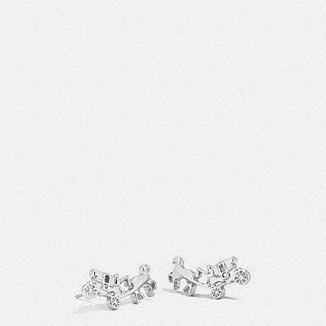 COACH COACH CARRIAGE EARRINGS - SILVER - f54895