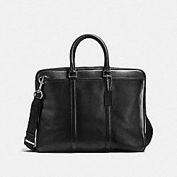 COACH F54908 Metropolitan Slim Brief BLACK/BLACK ANTIQUE NICKEL