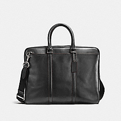 COACH F54908 Metropolitan Slim Brief BLACK ANTIQUE NICKEL/GRAPHITE