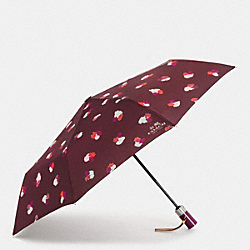 COACH F54926 Field Flora Umbrella SILVER/BURGUNDY