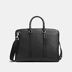 COACH F54930 - METROPOLITAN SLIM BRIEF BLACK/SILVER