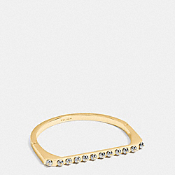 DAISY RIVET SIDE HINGED BANGLE - f54969 - GOLD/SILVER