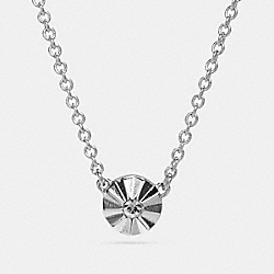 DELICATE DAISY RIVET NECKLACE - f54984 - SILVER/BLACK