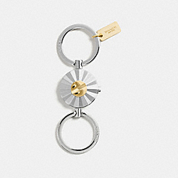COACH F54996 Daisy Rivet Valet Key Ring GOLD/SILVER