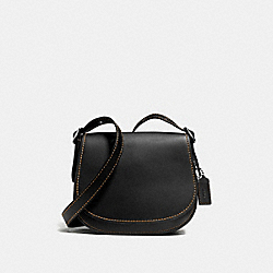 COACH F55036 Saddle 23 BLACK/BLACK COPPER