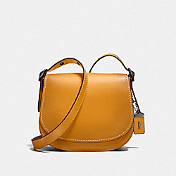 COACH F55036 Saddle 23 GOLDENROD/BLACK COPPER