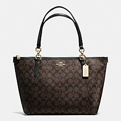 COACH F55064 Ava Tote In Signature IMITATION GOLD/BROWN/BLACK