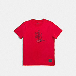 COACH F55146 Mickey T-shirt RED