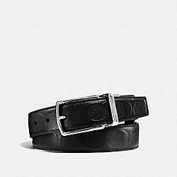 MODERN HARNESS CUT-TO-SIZE REVERSIBLE SIGNATURE LEATHER BELT - f55158 - BLACK