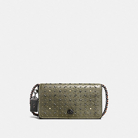 COACH f55166 DINKY WITH RIVETS olive/BLACK COPPER