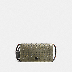 COACH DINKY WITH RIVETS - olive/BLACK COPPER - F55166