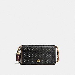 COACH F55166 Dinky With Rivets BLACK/OLD BRASS