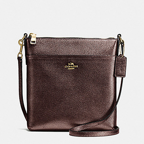 COACH F55204 COURIER CROSSBODY IN PEBBLE LEATHER LIGHT-GOLD/BRONZE