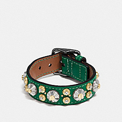 DAISY RIVET BRACELET - f55210 - BLACK/FOREST