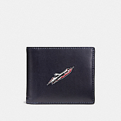 3-IN-1 WALLET WITH ROCKET SHIP - F55303 - NAVY