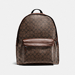 COACH F55398 Charles Backpack In Signature MAHOGANY/BROWN