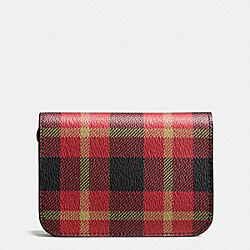 COACH F55436 Grooming Kit In Plaid Print Coated Canvas BLACK/RED PLAID BLACK