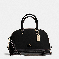 COACH F55445 - MINI SIERRA SATCHEL IN PATENT LEATHER IMITATION GOLD/BLACK
