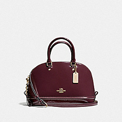 COACH F55445 Mini Sierra Satchel In Patent Leather IMITATION GOLD/OXBLOOD 1