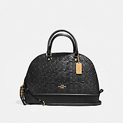 SIERRA SATCHEL - f55449 - LIGHT GOLD/BLACK