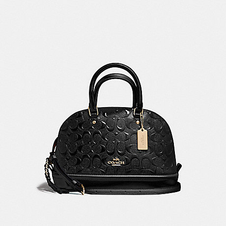 COACH f55450 MINI SIERRA SATCHEL LIGHT GOLD/BLACK